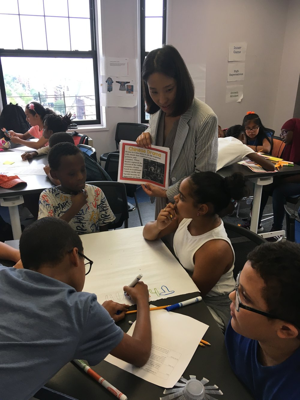 Middle school youth in Harlem engaged in a summer enrichment activity created by Voices Advance