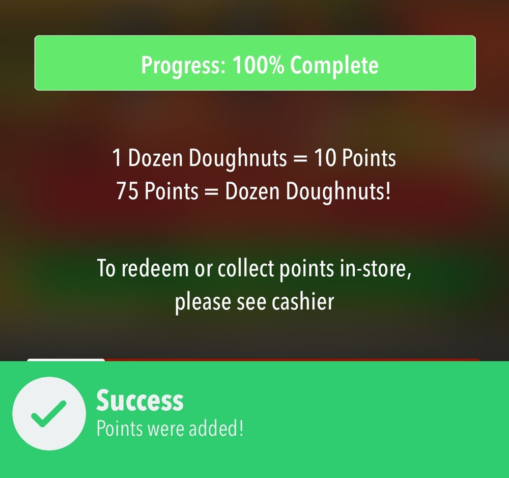 In-App - Rewards points will be automatically added to the user's account when they order through your app. When rewards are available, the app will let them know automatically