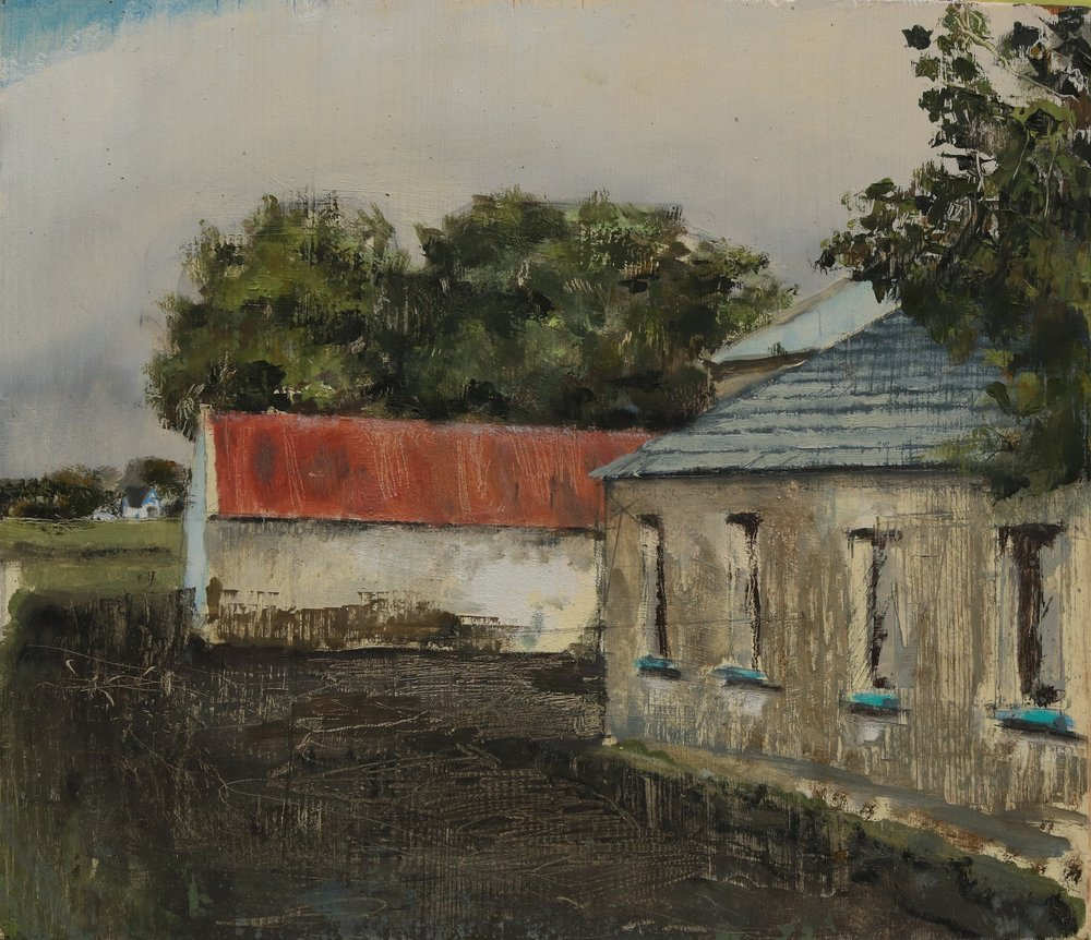 Aidan Crotty, Farmyard, oil on panel, 2016