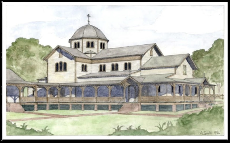 Architect's rendering of the proposed new church building