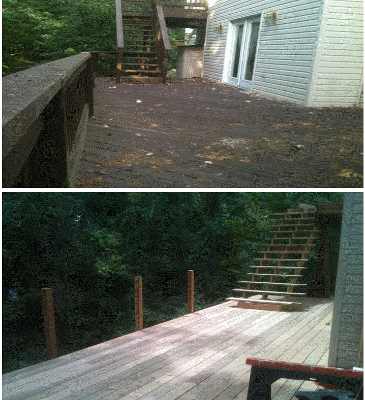 Deck Before & Progress Of New .jpg