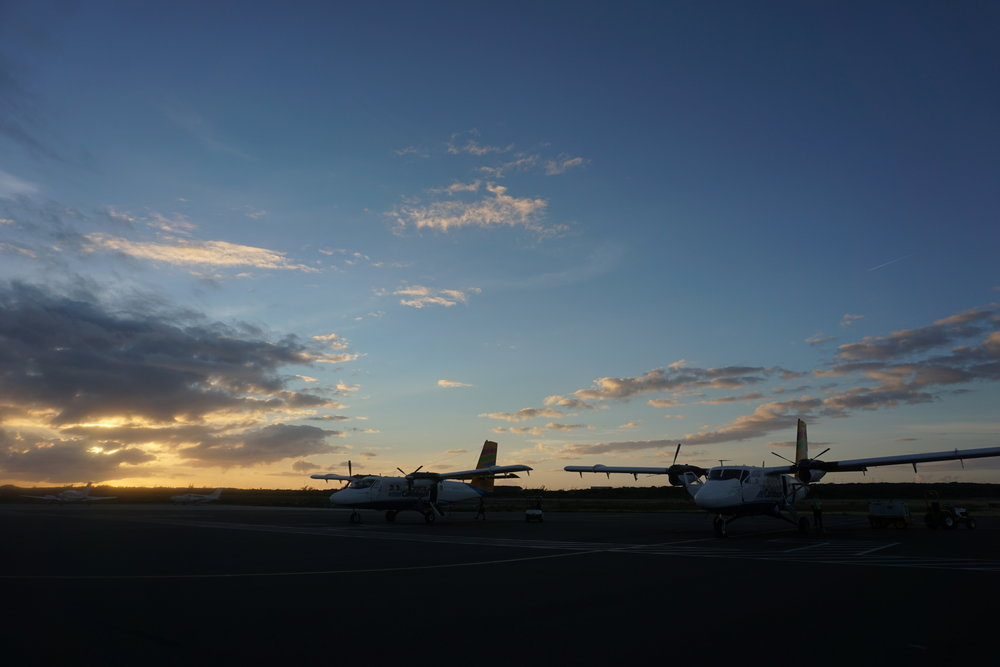 Provo Airport at dawn