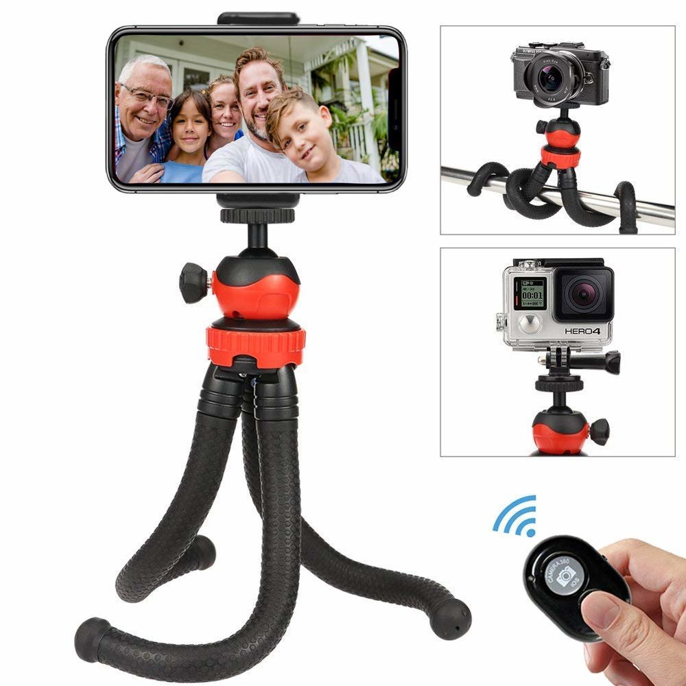 OASMU Portable and Adjustable Camera Stand Holder with Wireless Remote