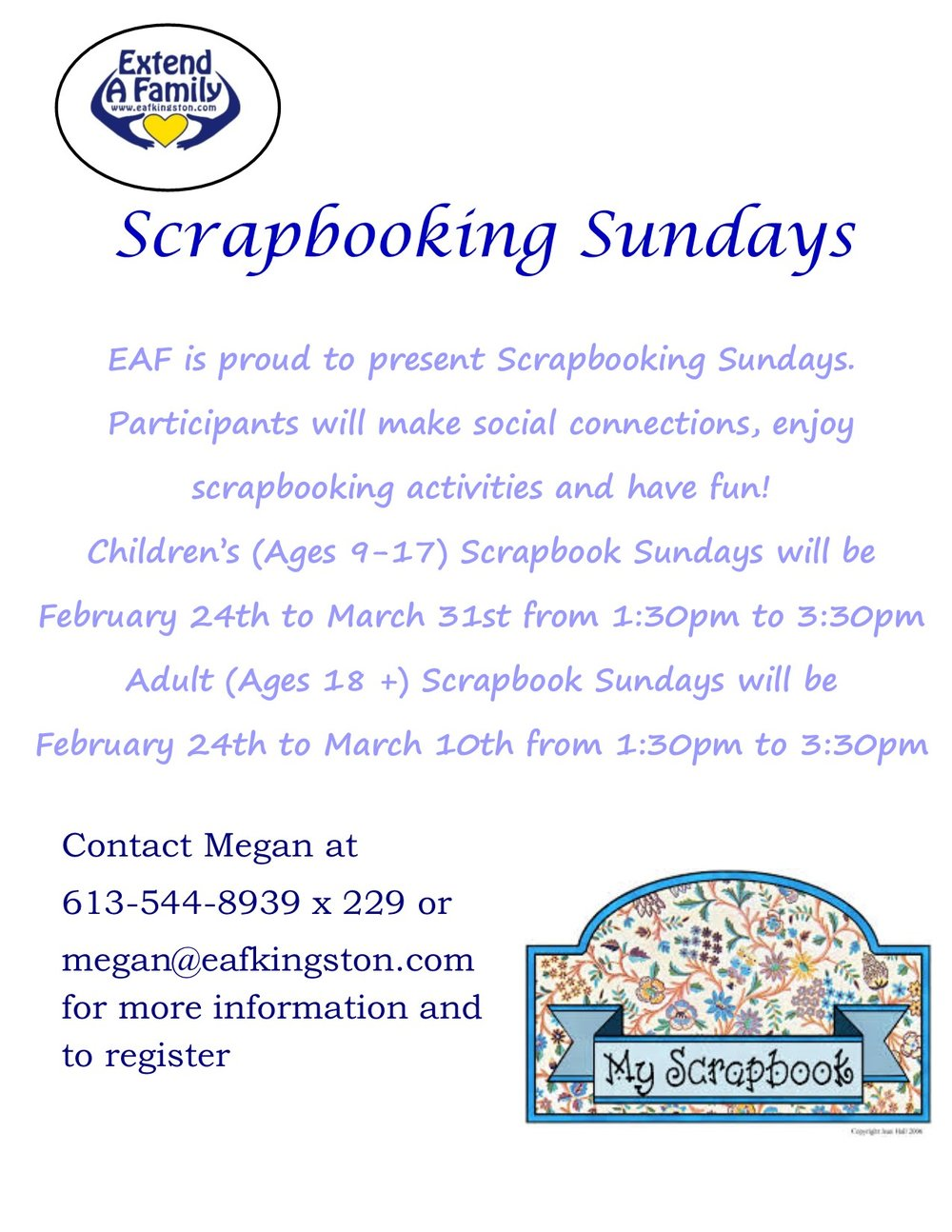 Scrapbooking Sundays — Extend-A-Family Kingston