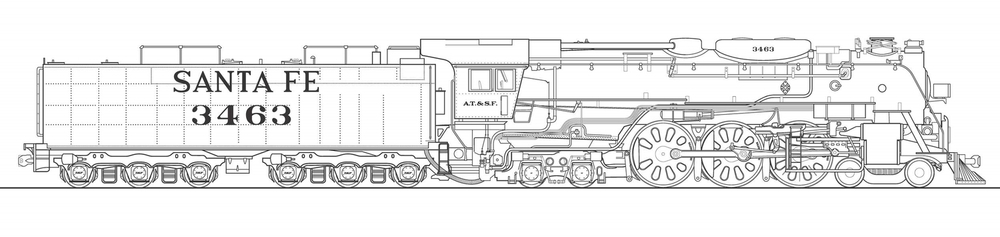 LOCOMOTIVE 3463 AS WILL BE REBUILT BY CSR