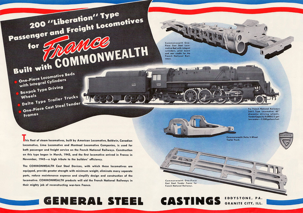General Steel Castings advertisement from the era -  click to enlarge .
