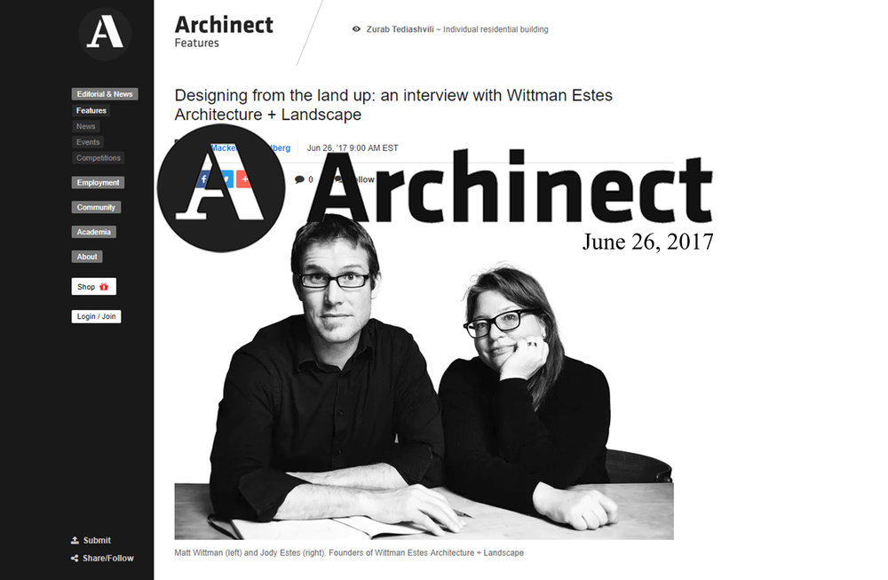 Archinect - Land Up Interview