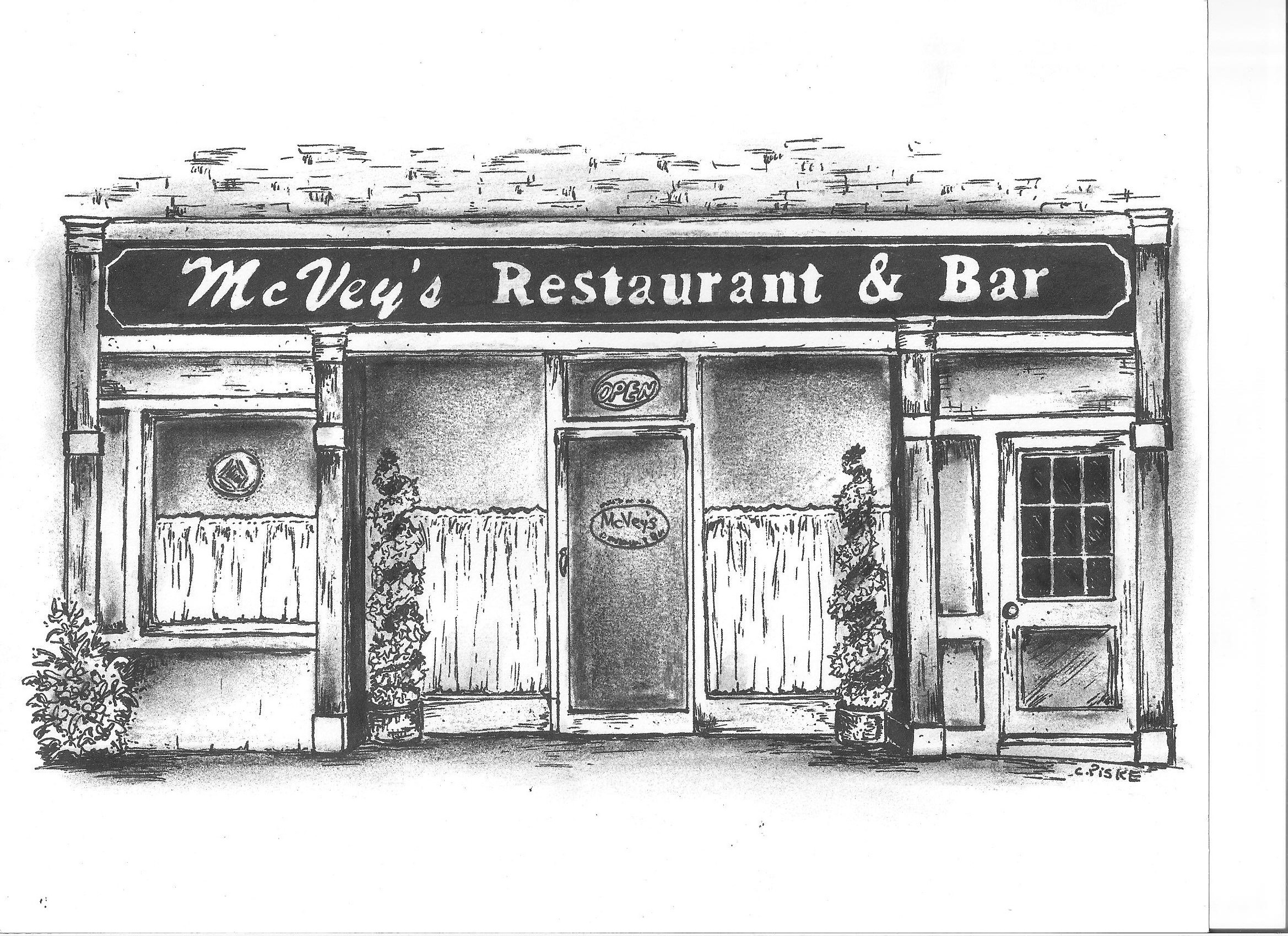 mcvey s restaurant bar