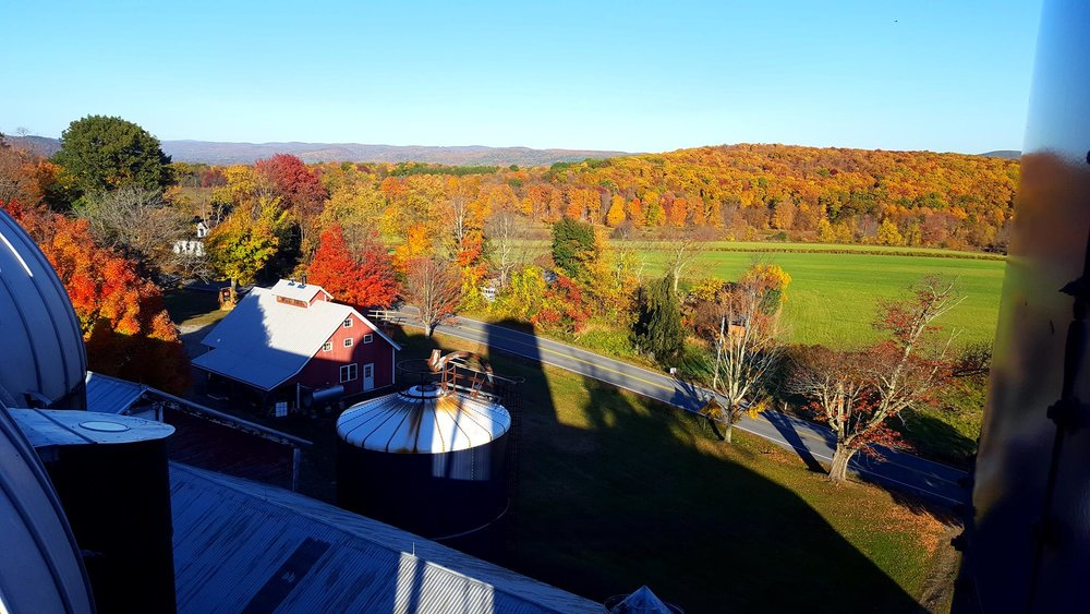 View from atop our silo