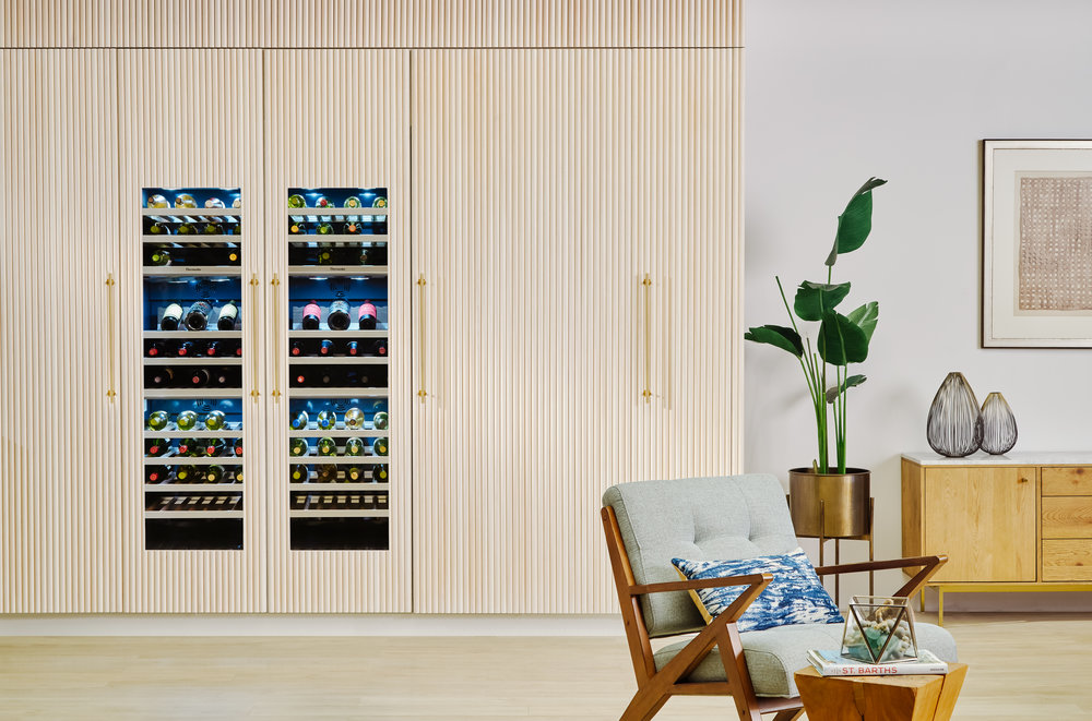 Thermador's wine columns are home connect enabled. They can be controlled remotely and can even give you the perfect wine pairing…how's that for smart??