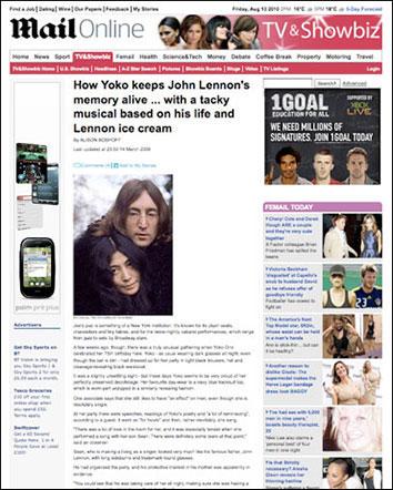 John Lennon and Yoko Ono 1968