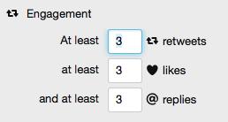 Einstellung des Twitter Widgets zur Filterung der Tweets auf dieser Seite