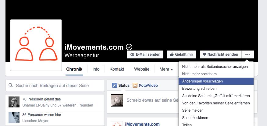 iMovements - Facebook Seite