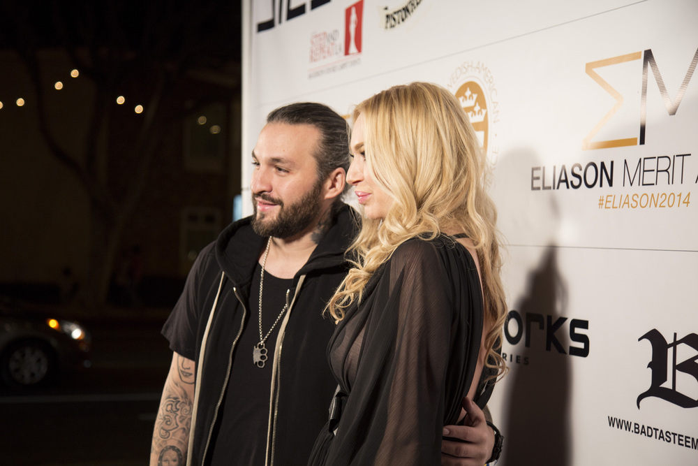 Steve Angello and Isabel Adrian at the Eliason Merit Award in Los Angeles.jpg