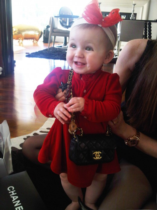 When Monday got her first Chanel purse of daddy