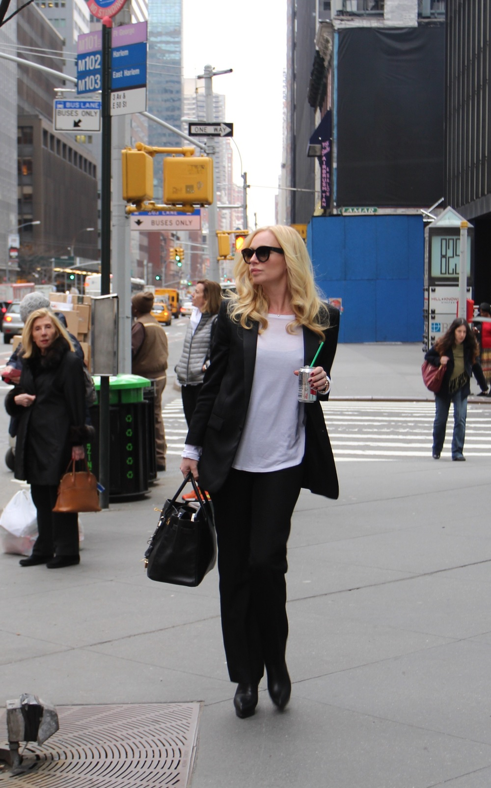 Saint laurent suit  Saint Laurent heels  Zimmermann shirt  Herm è s purse  Saint Laurent sunglasses