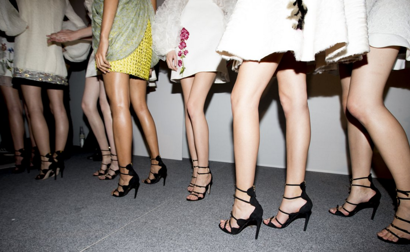 The  Giambattista Valli girls are getting ready to walk the runway.  These shoes are everything. Need a pair ASAP.
