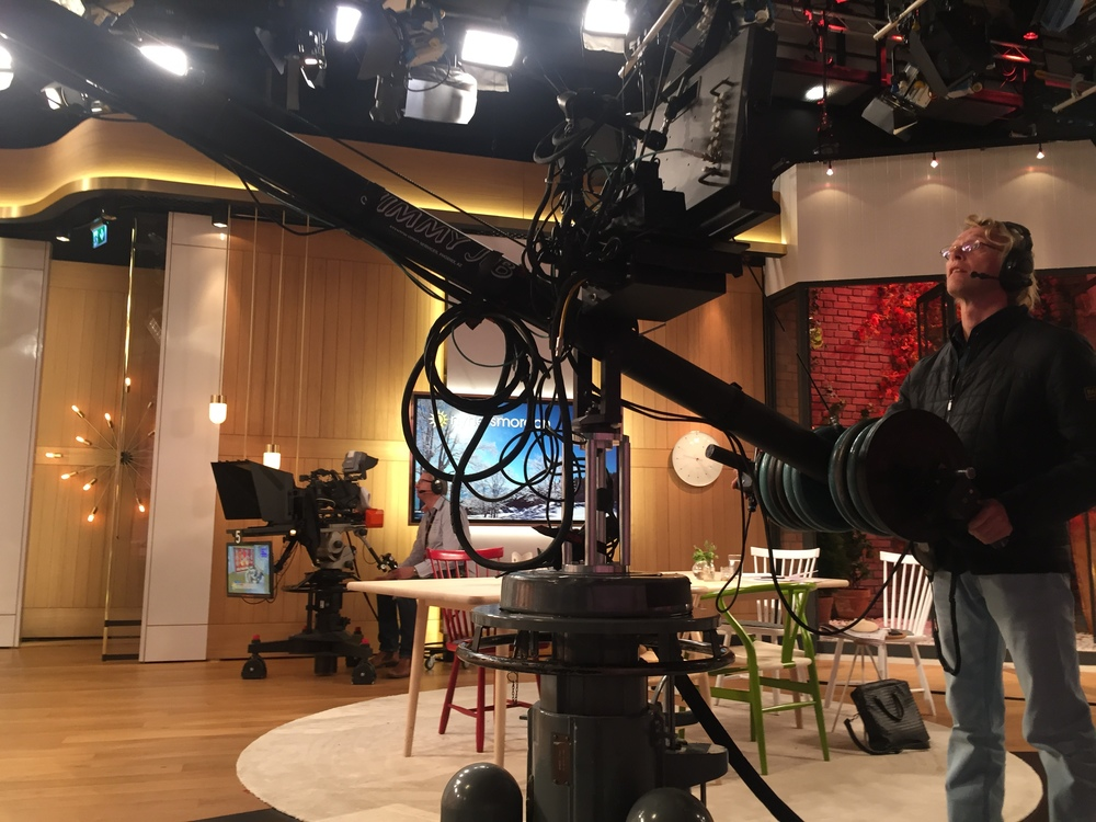 Behind the scenes at Nyhetsmorgon
