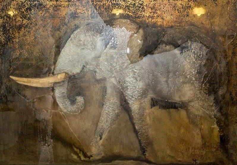 Endangered II - Elephant - SOLD