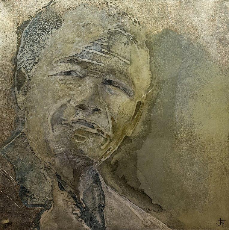 Madiba III - 120.5 x 120.5cm