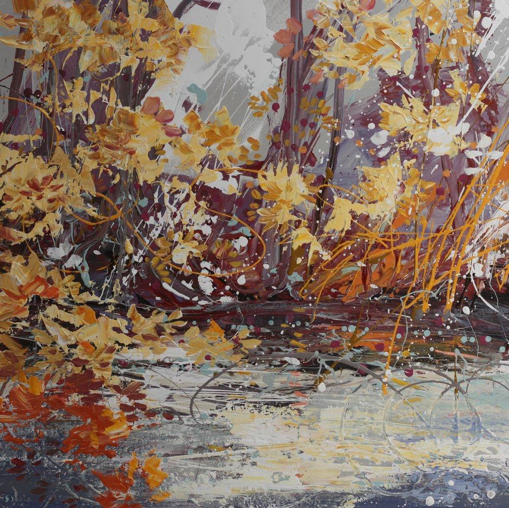 River Itchen 2 - 80 x 80cm