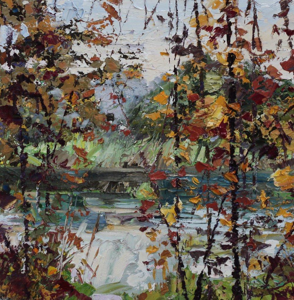 Russet River - 50 x 50cm