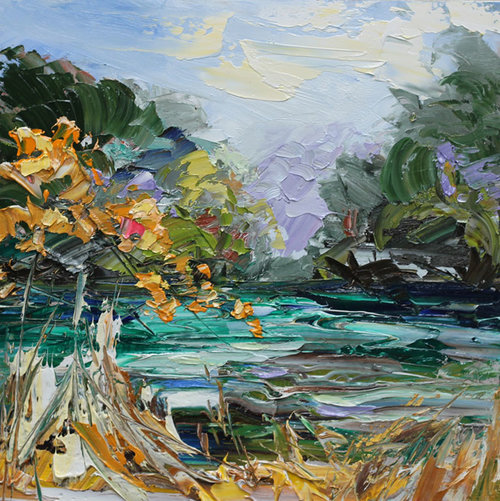 Autumn River - 40 x 40cm SOLD