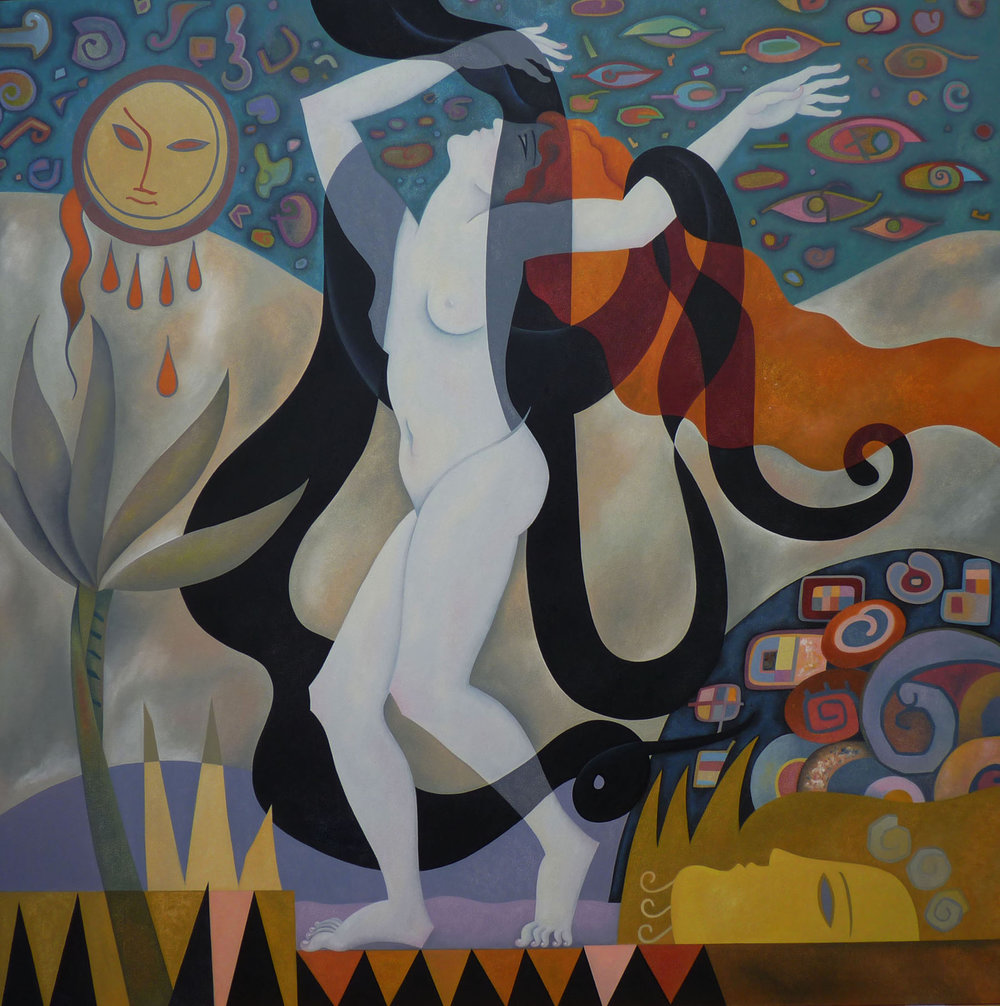 Salome - Rapture - 4' x 4'