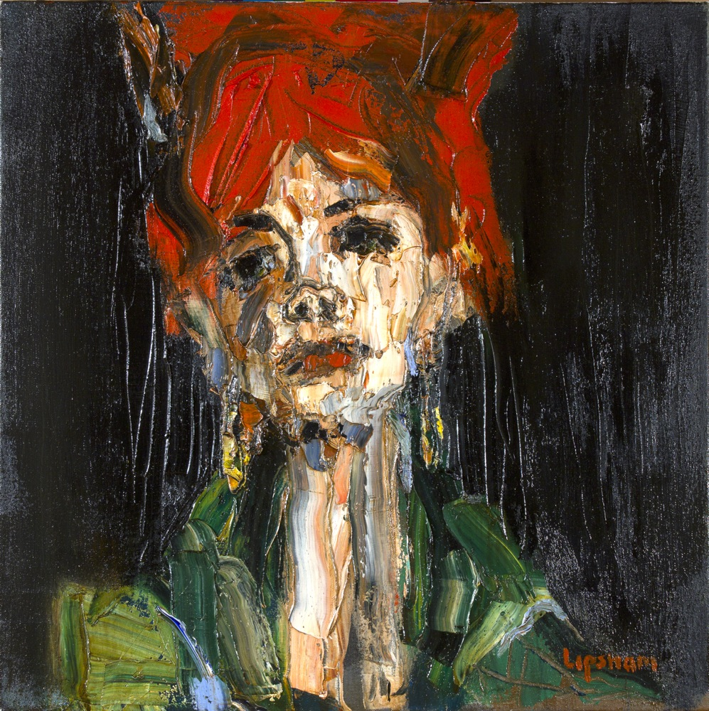 Redhead in Green - SOLD