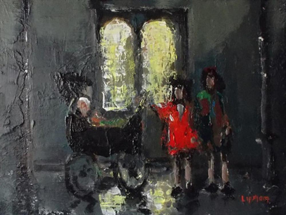 Children Waiting For Mum - SOLD