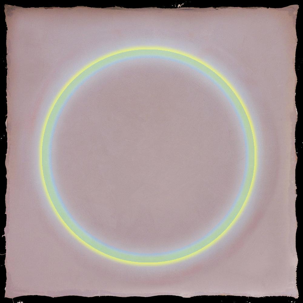 Blue, Yellow & Pink - 80x80cm