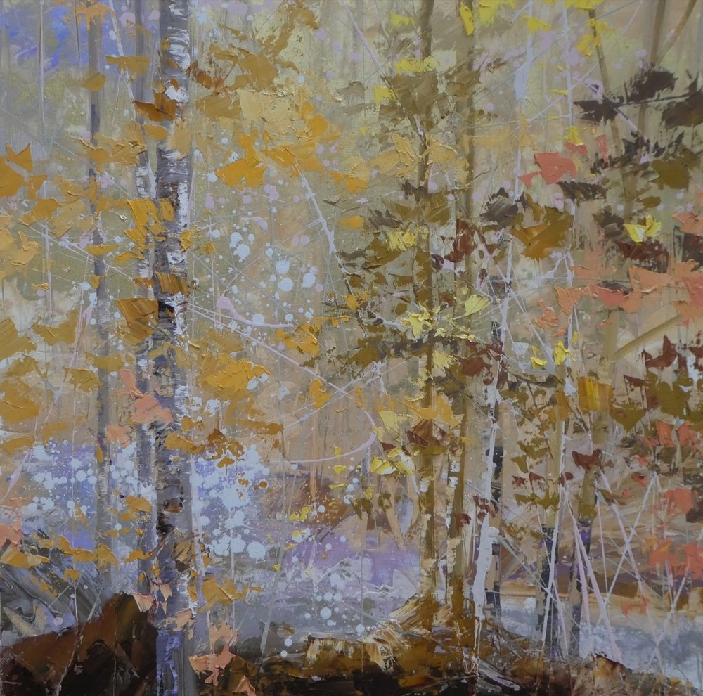 Forest Gold - 100 x 100cm