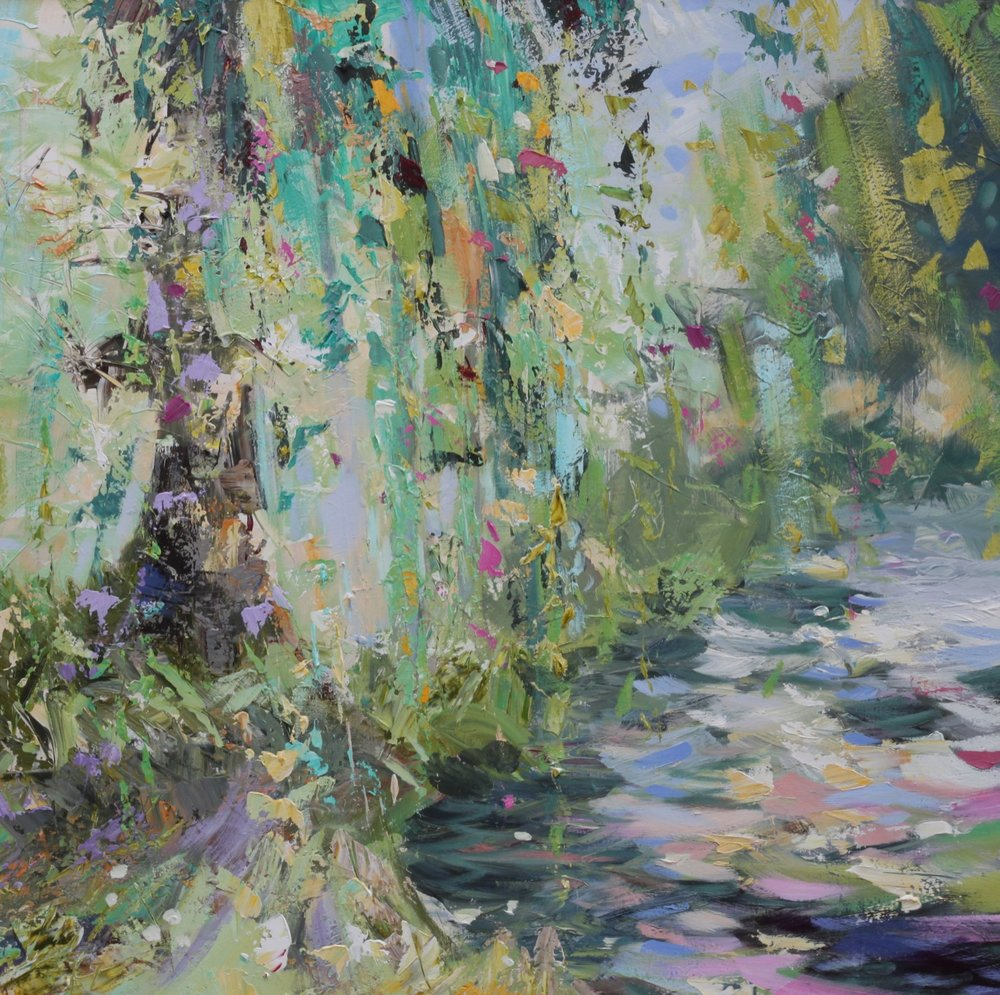 Weeping Willow - 120 x 120cm (Sold)