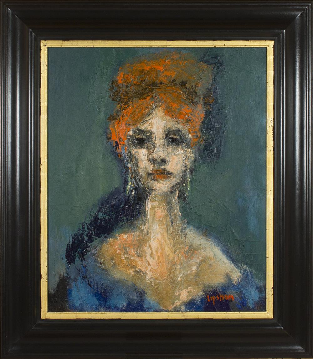Landlady at The Old Bell Tavern - 82 x 72cm