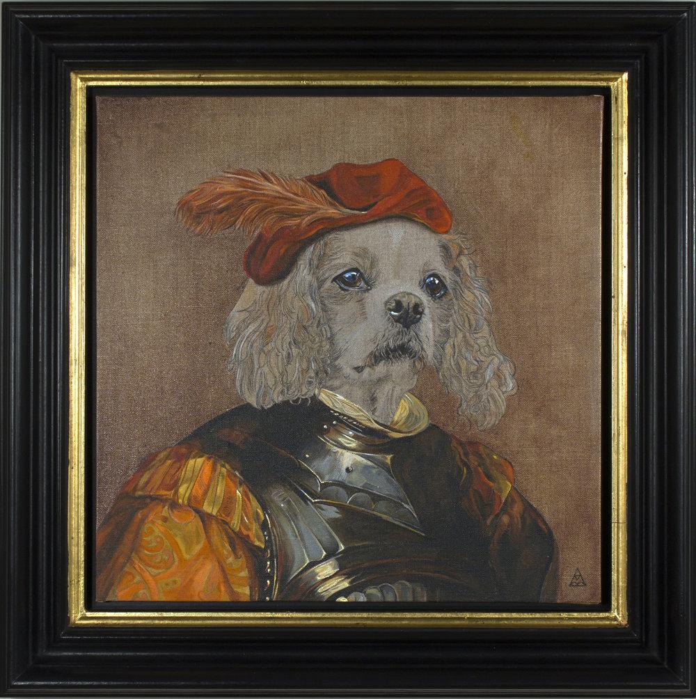 "Viscount Francis ""The Dog"" Lovell - 40cm x 40cm"