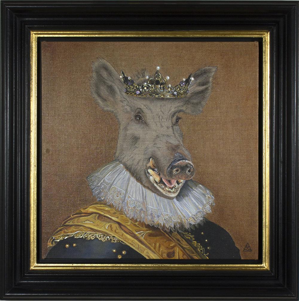"King Richard III ""The Hog"" - 40cm x 40cm"