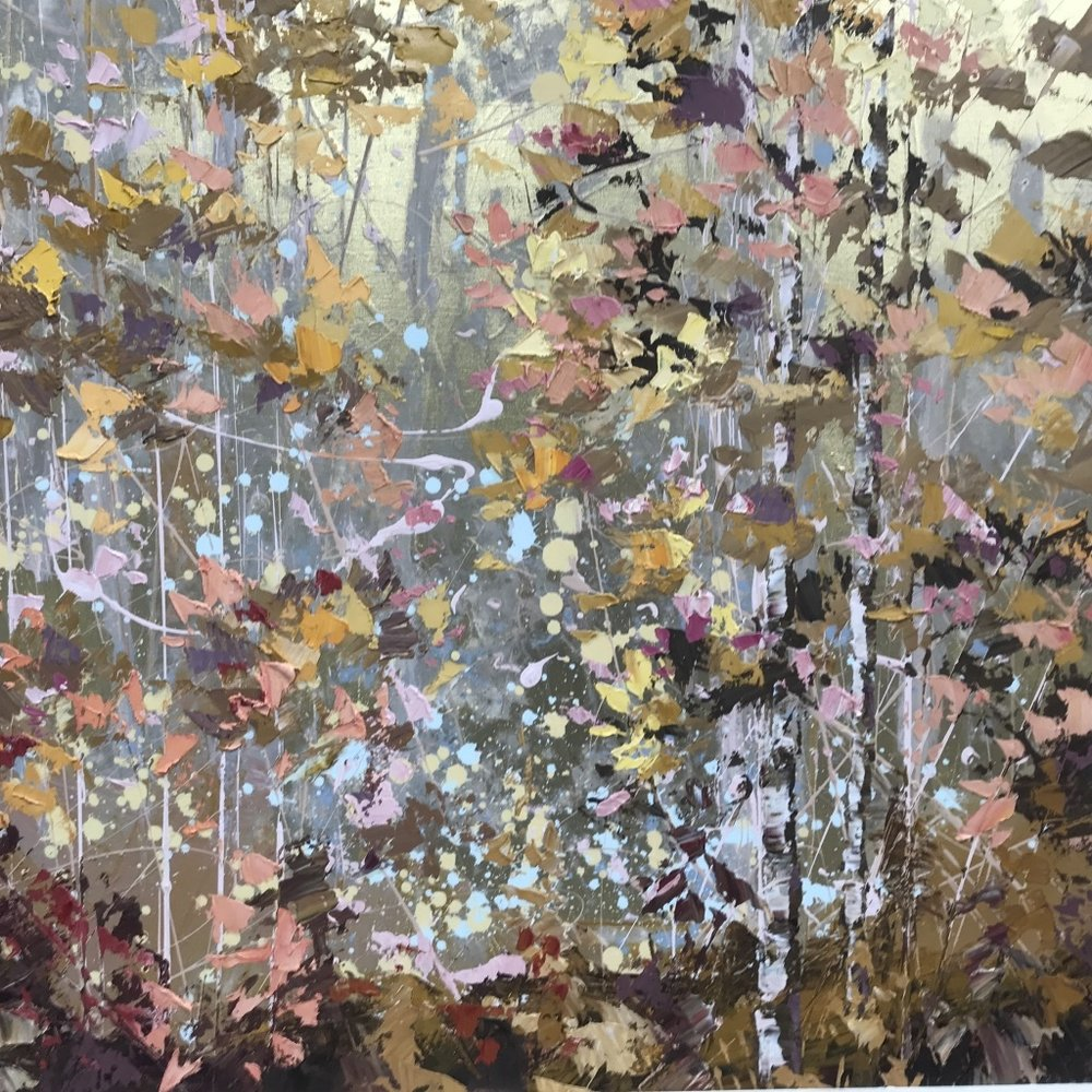 Gold Woods - 100cm x 100cm (Unframed)
