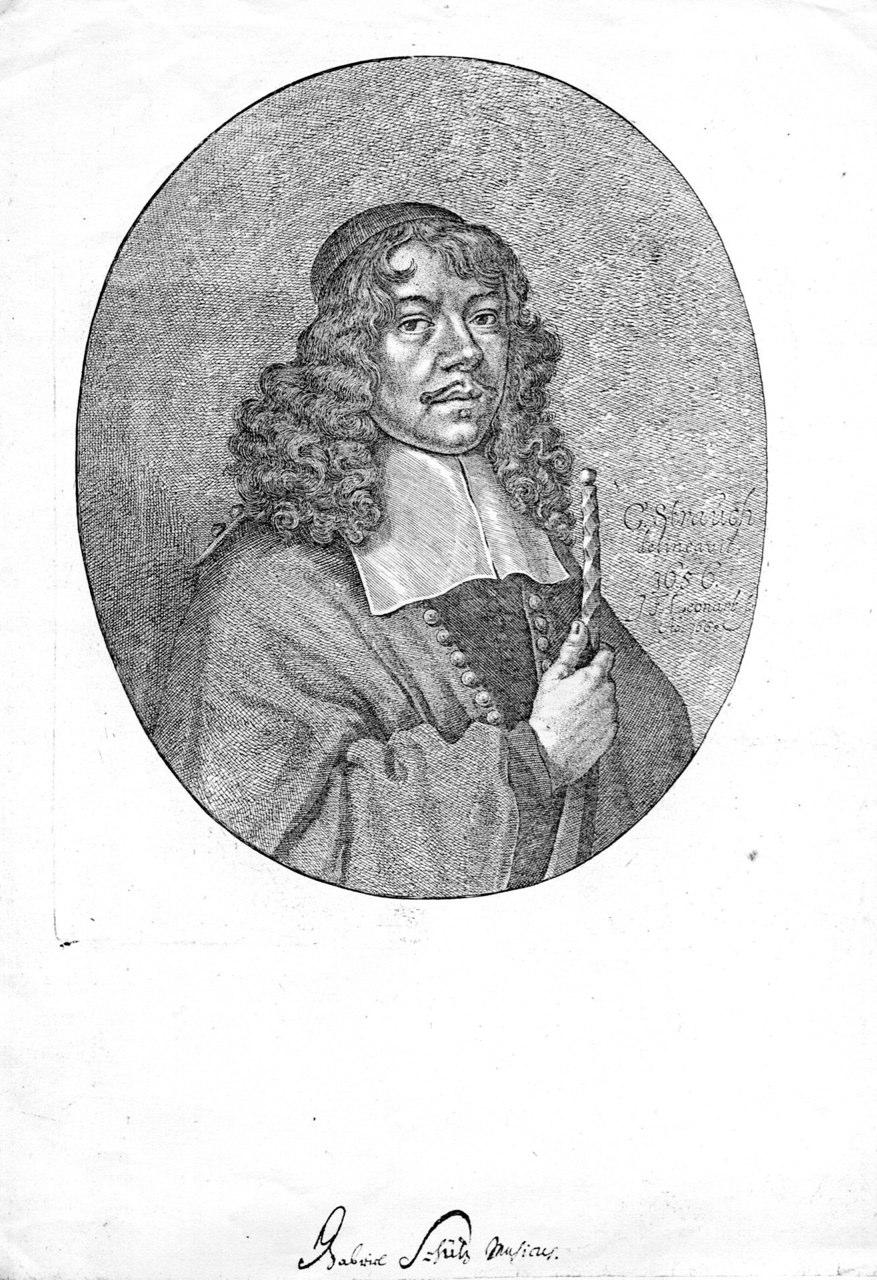 Portrait of Nürnberg Stadtpfeifer Gabriel Schütz by G. Strauch, 1656