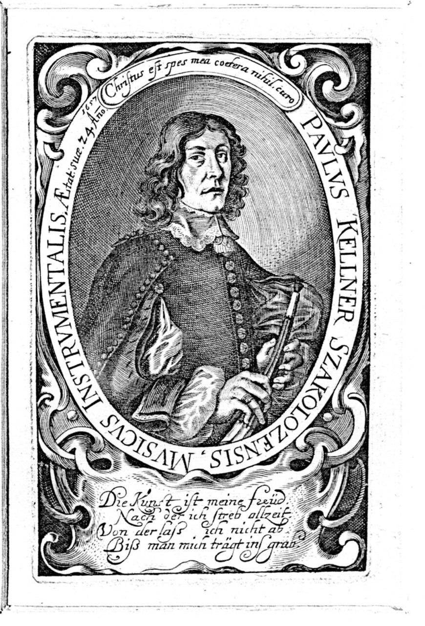Portrait of Nürnberg Stadtpfeifer Paul Kellner, also known as Paulus Szakolozensis.  First mentioned 1657.