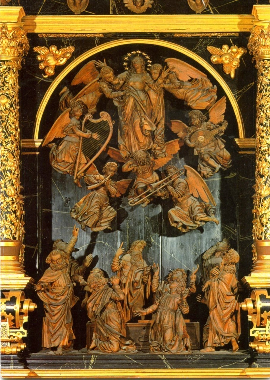 Fribourg, Switzerland, Augustinian monastery; Altarpiece (1592-1601) by Peter Spring