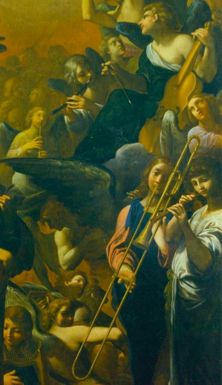 Ludovico Carracci, Il Paradiso Detail; Altar painting in San Paolo, Bologna