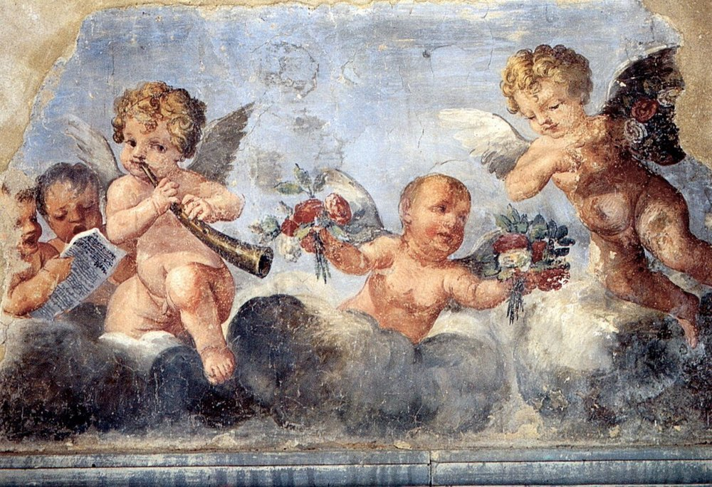 San Domenico, Arezzo, 1600; Frieze with putti