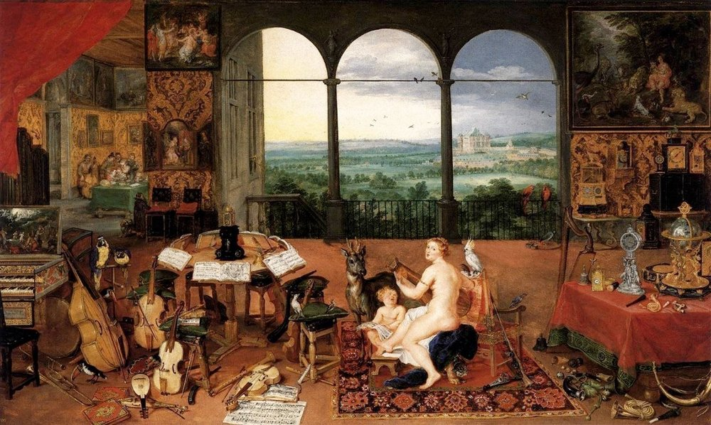Jan Brueghel, The Sense of Hearing, 1617