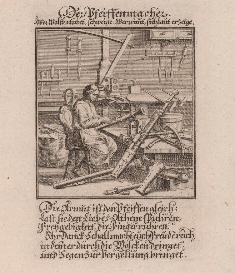 Christoph Weigel, Der Pfeiffenmacher, 1698