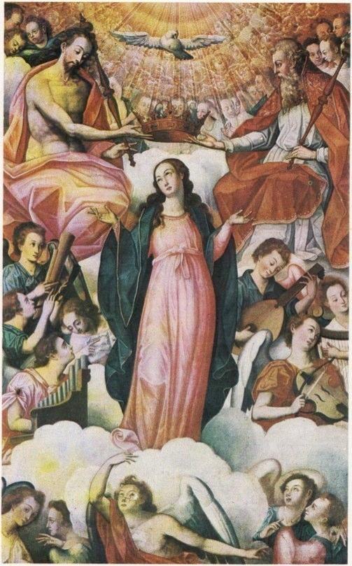 Bernardo Bitti (1548-1610) Asunción y Coronación de Nuestra Señora.