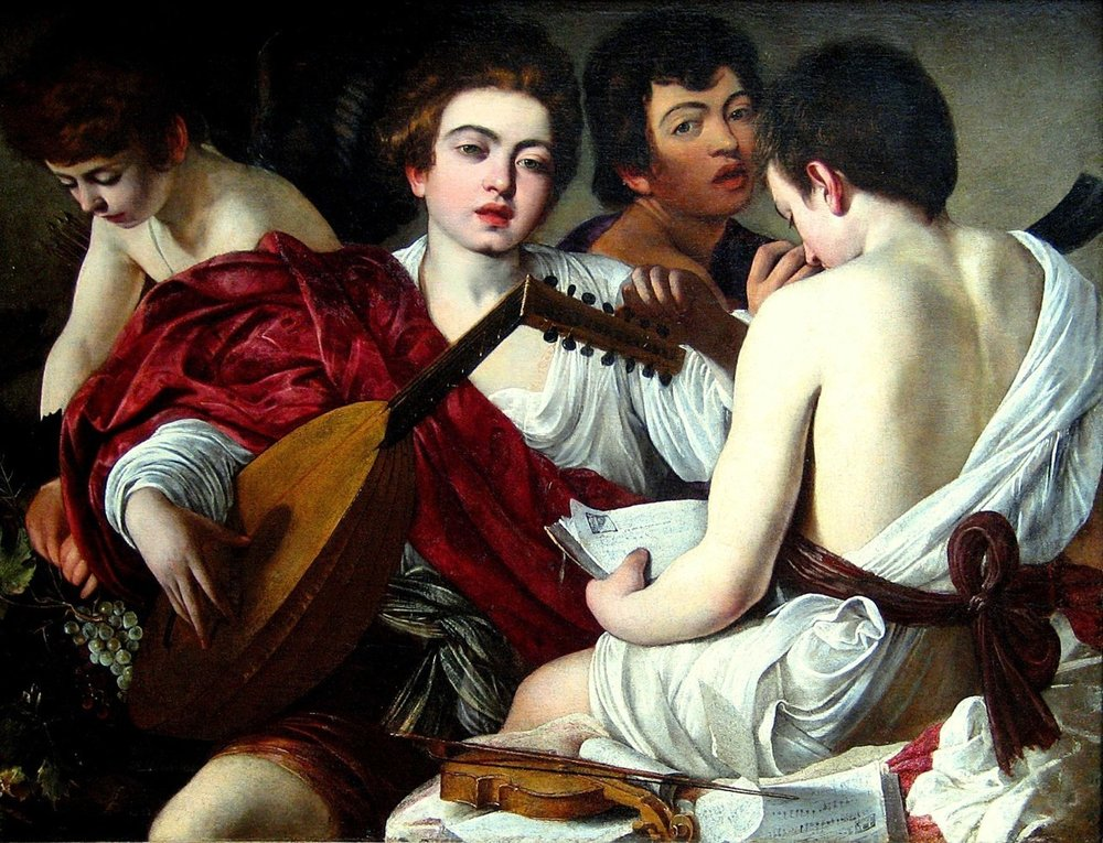 The Concert (ca 1595), Michelangelo Merisi da Caravaggio (1571-1609/1610). New York: Metropolitan Museum of Art, 52.81
