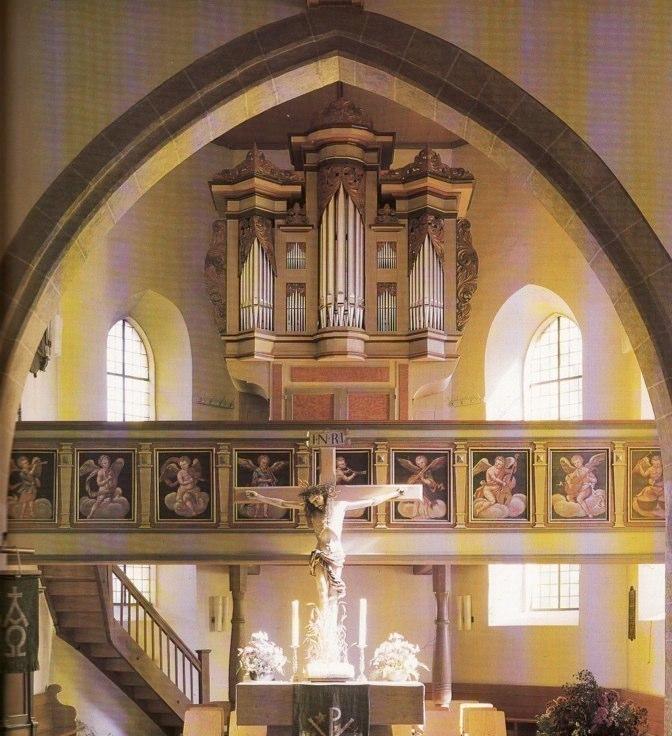 Essingen organ balcony, 1668
