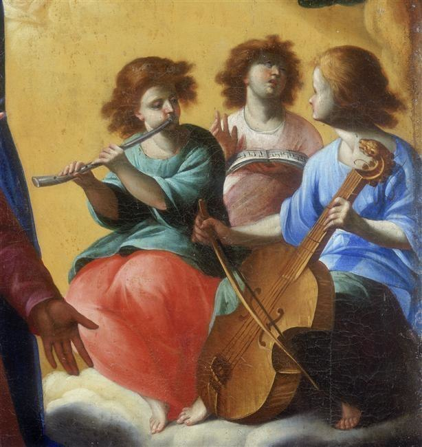 Anonymous, 16th century. Musician Angels from Casacalenda, Molise, Convent of Sant'Onofrio.