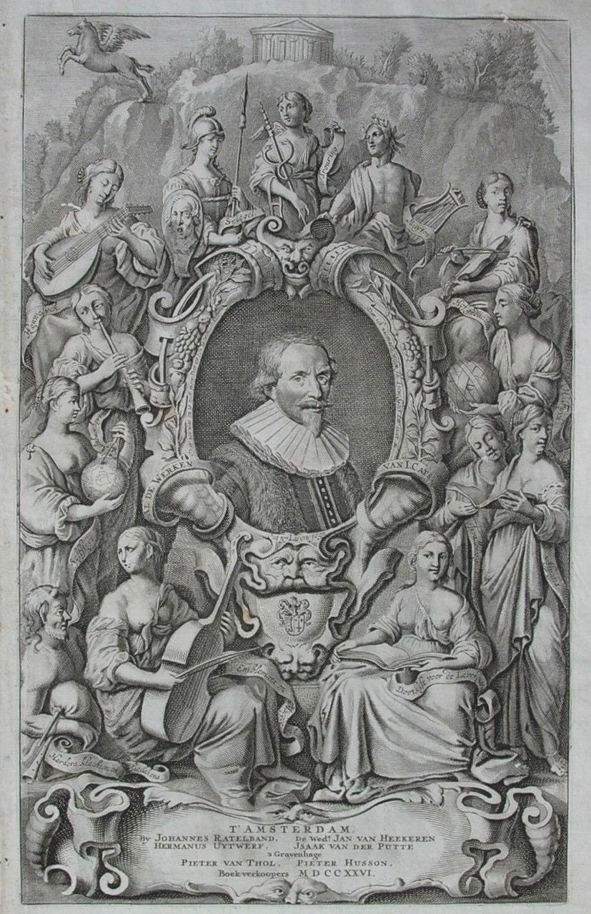 1726 Venne Titelpagina al de werken van J.Cats
