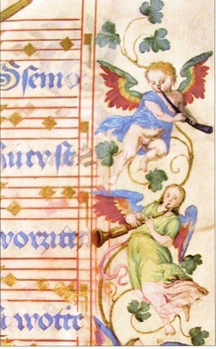 From an illuminated Graduale in Mladá Boleslav, 1570-72